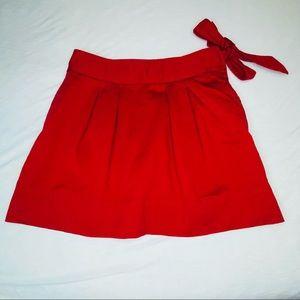 Vineyard Vines red wrap skirt, sz 2